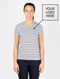 Women´s blue striped t-shirt with apron