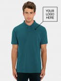Quality turquoise polo shirts  with logo