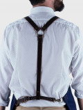 Barman's apron with leather harness on the back