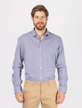 Men's Blue Check Shirt