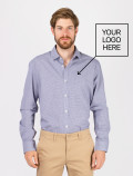 Men's Blue Check Shirt with logo