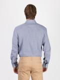 Men's Blue Check Shirt back