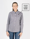 Women's Black Check Shirt for waitress with logo