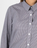 Women's Black Check Shirt for waitress detail