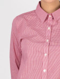 Women's Red Check Shirt for waitress detail