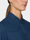 Women's Dark Denim Shirt  collar detail