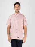 Red stripes worker shirt