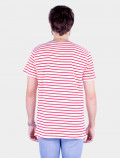 Red striped t-shirt back