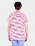 Camiseta de rayas rojas espalda