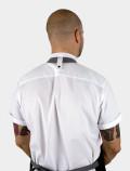White chef's shirt back