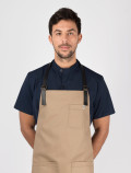 Blue work shirt for chefs with apron