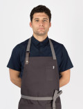 Blue Workshirt with chef apron