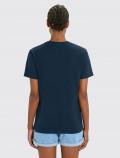 Camiseta azul navy de mujer espalda