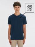 Camiseta azul navy de hombre con logo