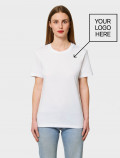 Women's White T-Shirt with logo