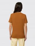 Camiseta naranja de mujer para uniforme espalda