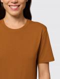 Camiseta naranja de mujer para uniforme detalle