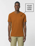 Men's orange t-shirt with logo