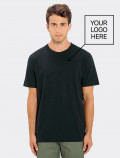 Men's black t-shirt for modern uniforms with logo