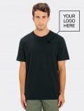 Camiseta negra de hombre para uniforme con logo