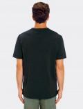Camiseta negra de hombre para uniforme espalda
