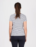 Women´s blue striped t-shirt back