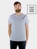 Uniform blue stripes t-shirt
