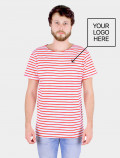 Men´s red striped t-shirt  with logo