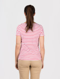 Women´s red striped t-shirt  back