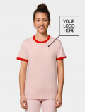 Women's pink t-shirt with logo