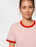 Camiseta rosa y roja de mujer