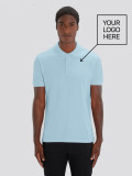 Men's Sky Blue Polo with logo