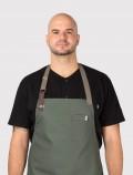 Chaquetilla negra de chef con delantal de cocina