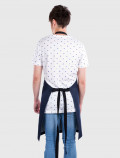 Denim blue apron back