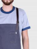 Gray barista apron detail