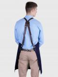 Barista Indigo apron harness