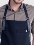 Barista black apron detail