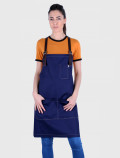Blue barman apron