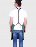 Bartender green apron harness
