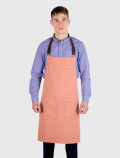 Orange waiter apron