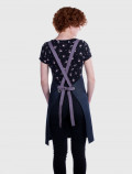 Cross back aprons for cosmetology uniforms