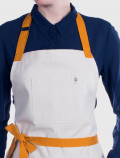 Kitchen apron with yellow ribbons detail