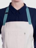 Linen kitchen apron detail