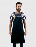 Delantal de cocinero azul