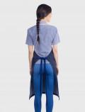 Delantal denim azul espalda