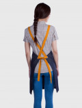 Apron with adjustable cross-back straps