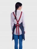 Denim funky apron cross-back straps