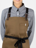 Waiter's brown apron