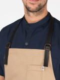 Waiter's apron with leather