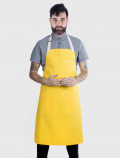 Yellow apron for professional chefs